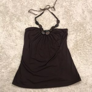 Brown Halter with Wooden bead detail
